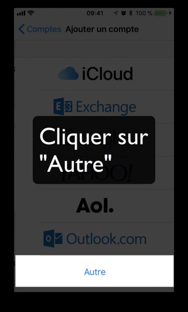 """Cliquer sur """"Autre"""""""