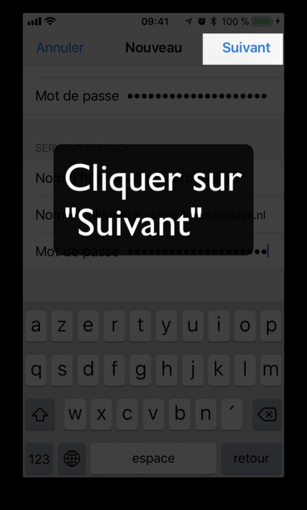 """Cliquer sur """"Suivant"""""""