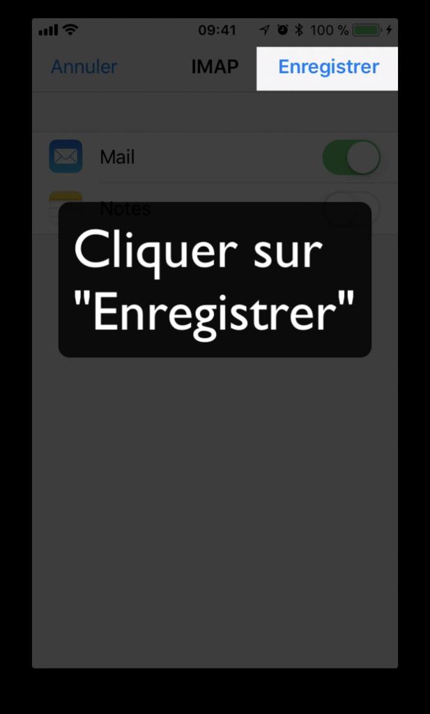 """Cliquer sur """"Enregistrer"""""""